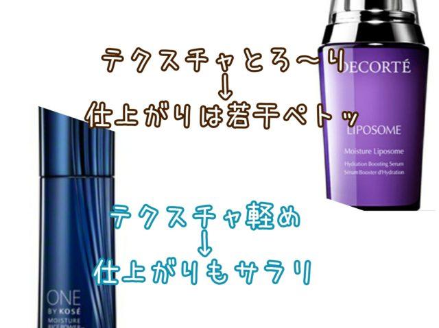 モイスチュアリポソーム コスメデコルテ ワンバイコーセー 薬用保湿美容液 比較